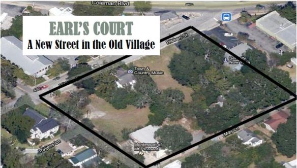 Aerial view of Earl's Court, Old Village, Mt. Pleasant, SC