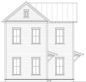 Lot 2 Elevation for Earl's Court, Mount Pleasant, SC