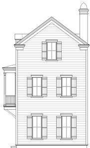 Lot 3 Elevation for Earl's Court, Mount Pleasant, SC